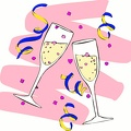 toasting champagne pink