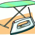 ironing board iron