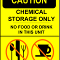 caution sign no food or drink