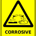 safety sign corrosive