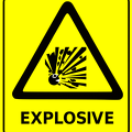 safety sign explosive