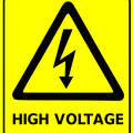 safety sign high voltage