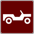 recreation sign 4WD trail
