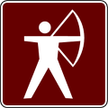 recreation sign archery