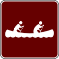 recreation sign canoeing