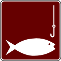 recreation sign fishing