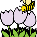 bee-and-flowers