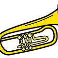 trumpet-colored