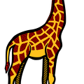 Giraffe-colored