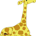 Kneeling-Cartoon-Giraffe