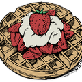 Belgian-waffles-strawberries