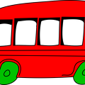 cartoon-red-bus