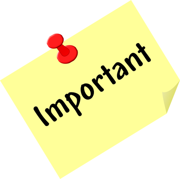 important-post-it - Free Clip Art For Download